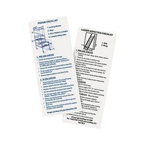 Ladder and podium inspection guide pocket memo