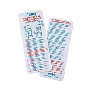 Aluminium Tower inspection guide pocket memo