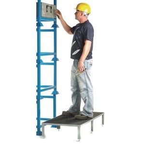 Adjustable height work platforms
