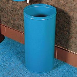 Steel rubbish bins
