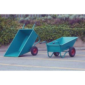 Twin wheeled bulk barrows