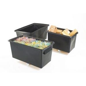 Recycled plastic container trucks
