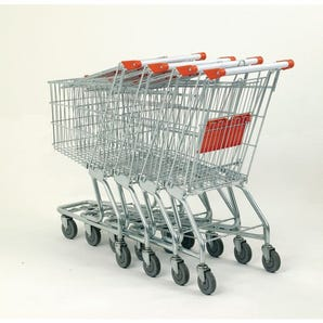 Nesting supermarket trolleys