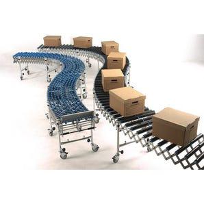 Flexible conveyor - Standard duty skate wheel flexible conveyor