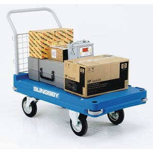 Extra heavy duty plastic base platform trucks