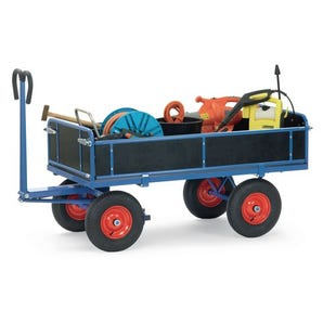Fetra trailers for hand powered towing - Turntable trucks with sides