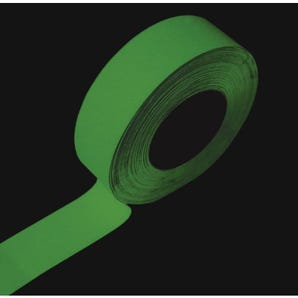 Photoluminescent slip resistant tape