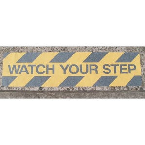 Slip resistant safety treads, with hazard warning message - pack of 10