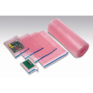 Anti-static bubble film pouches
