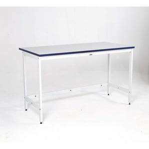 Heavy duty mailroom benches - Basic bench with open storage