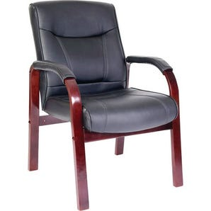 Leather visitor waiting chair