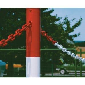 Galvanised Steel barrier chains - plastic coated