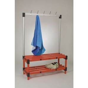 Plastic cloakroom and changing room - Cloakroom bench with hooks
