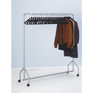 Complete cloakroom system - with rail, hangers and discs