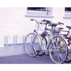 Wall and floor mounting cycle rack