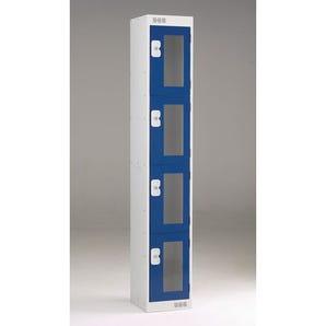 Vision panel door lockers