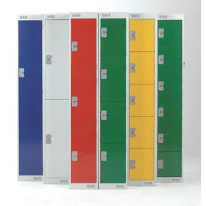 Coloured door lockers with standard top