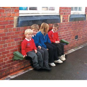 Recycled plastic wall mounted bench