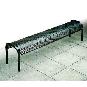 Metal mesh backless bench