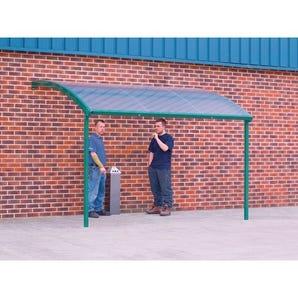 Wall mounted smoking/vaping shelter - Large