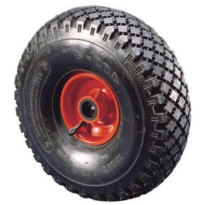Pressed steel centre pneumatic tyre