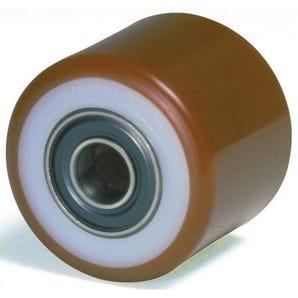Pallet truck rollers - steel centre, polyurethane tyre