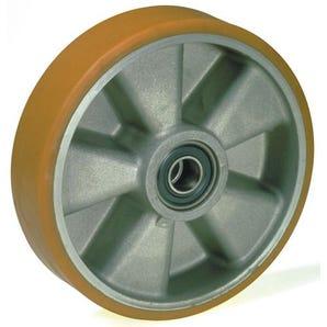 Pallet truck steering wheels - aluminium centre, polyurethane tyred