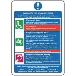 Fire action for the physically impaired - Evacuation for disabled