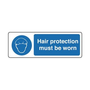 Food processing and hygiene signs - Hair protection must be worn