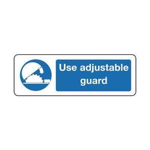 Machinery and general mandatory - Use adjustable guard