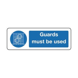 Machinery and general mandatory - Guards must be used