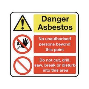 Asbestos acm's - Danger asbestos no unauthorised persons...Do not cut drill...
