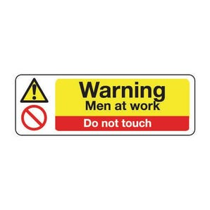 Machinery hazards - Warning men at work do not touch