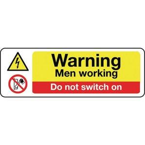 Machinery hazards - Warning men working do not switch on
