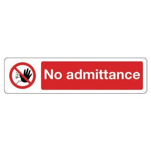 Mini prohibition signs - No admittance
