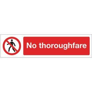 Mini prohibition signs - No thoroughfare