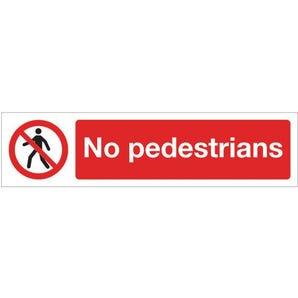 Mini prohibition signs - No pedestrians