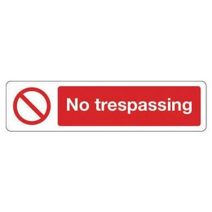 Mini prohibition signs - No trespassing