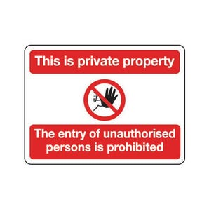 General construction - This is private property