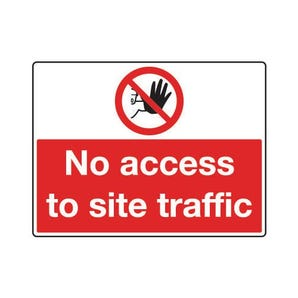 General construction - No access to site traffic