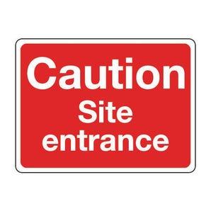 General construction - Caution site entrance