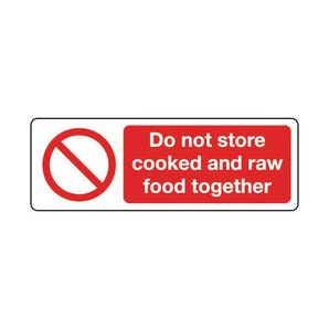 Food processing and hygiene - Do not store cooked and raw food together
