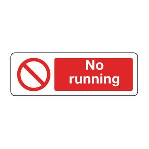 General prohibition signs - No running - landscape