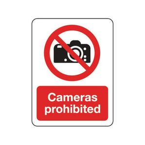 General prohibition signs - Cameras prohibited