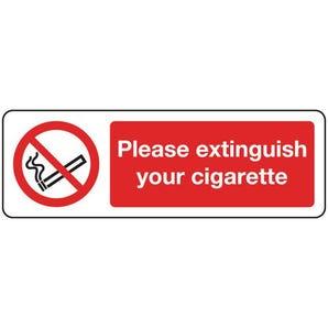 Smoking prohibition signs - Please extinguish your cigarette
