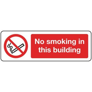 Smoking prohibition signs - No smoking in this building