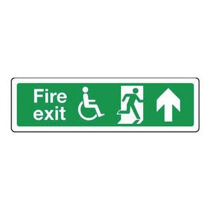 Fire exit signs for the disabled - Fire exit arrow up