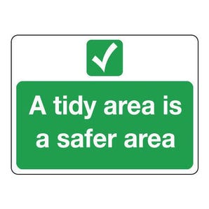 Site safety - A tidy area is a safer area