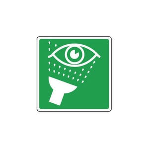 Safe condition and first aid signs - Eyewash sign pictorial