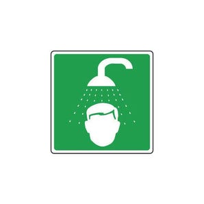 Safe condition and first aid signs - Emergency shower pictorial